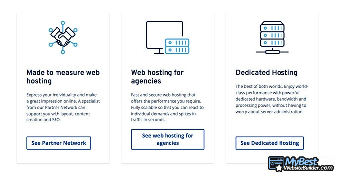 1&1 hosting reviews: hosting features.