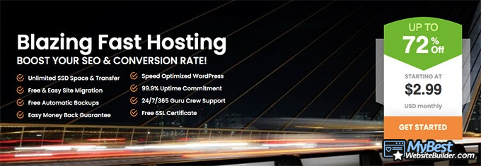 A2 Hosting reviews: blazing fast hosting.