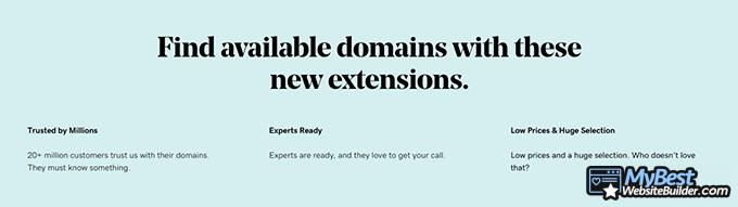 Best domain hosting: GoDaddy.