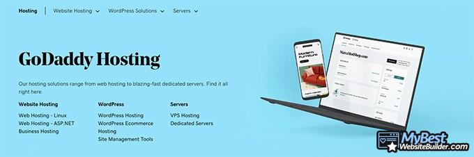 Best web hosting: GoDaddy.