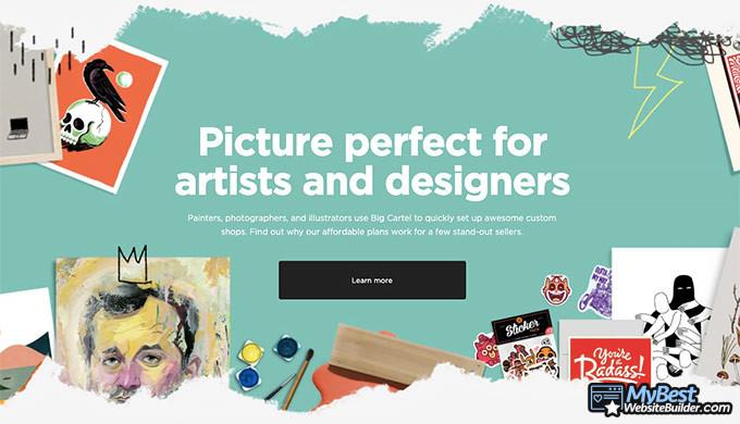 Big Cartel review: website builder for artists.