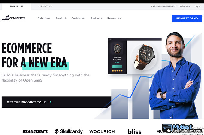 WooCommerce review: BigCommerce homepage.