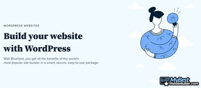 Bluehost reviews: build your website with WordPress.