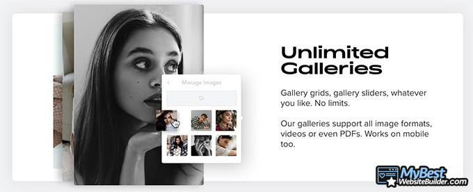 Carbonmade review: unlimited galleries.