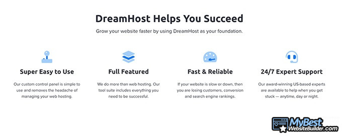 DreamHost reviews: DreamHost helps you succeed.