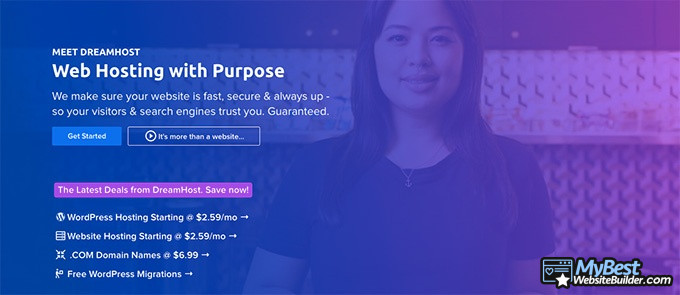 DreamHost reviews: web hosting with purpose.