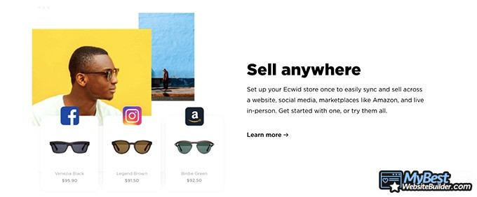 Ecwid reviews: sell anywhere.