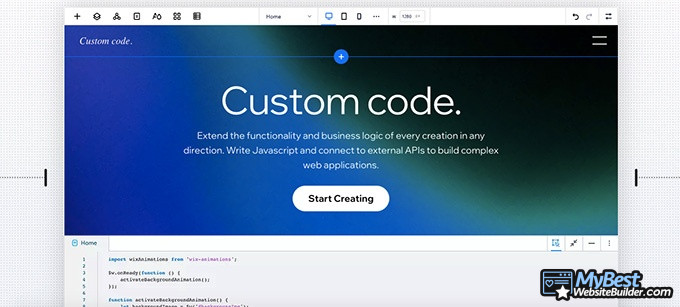 Editor X review: custom code.