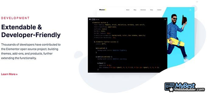 Ulasan Elementor: Kontribusi developer untuk situs Elementor.