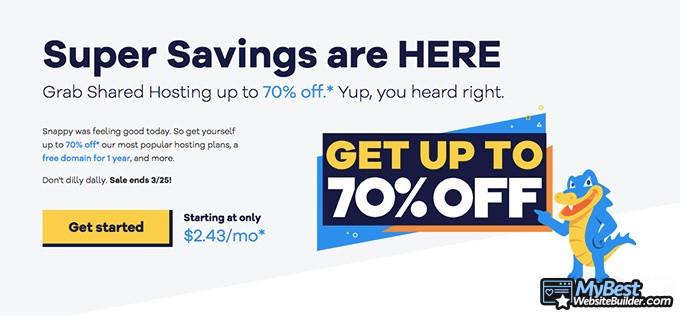 HostGator review: savings.