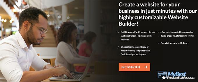 HostPapa review: website builder.