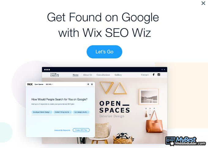 How to start a website: Wix SEO.