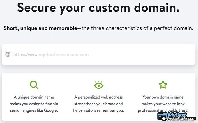 Jimdo review: domain registration.