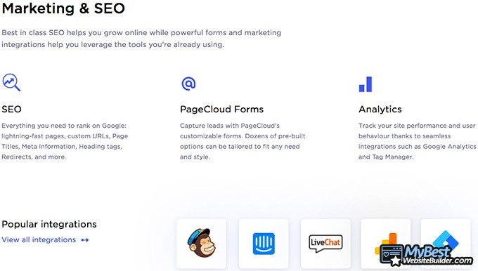 PageCloud review: marketing & SEO.