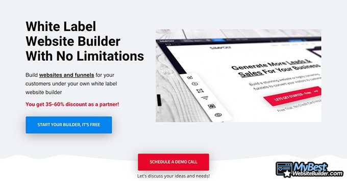 Simvoly reviews: white label website builder.