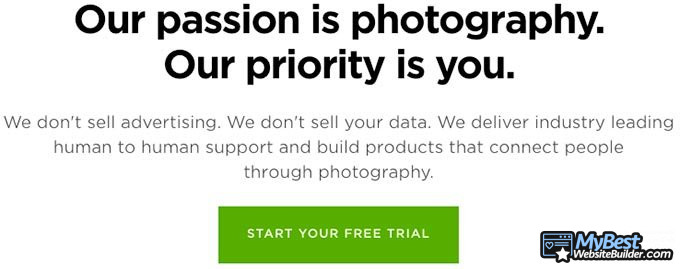 SmugMug review: photography-oriented builder.