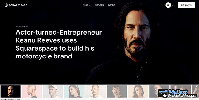 Review Squarespace: Keanu Reeves Squarespace.