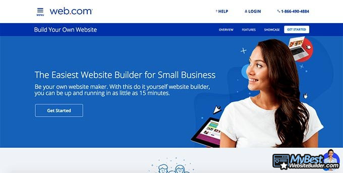 Web.com website builder reviews: front page.