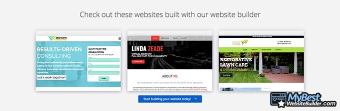 Web.com website builder reviews: themes.