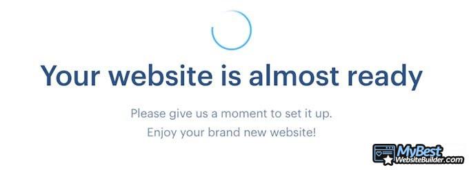 Análise do Webnode: tela de carregamento.