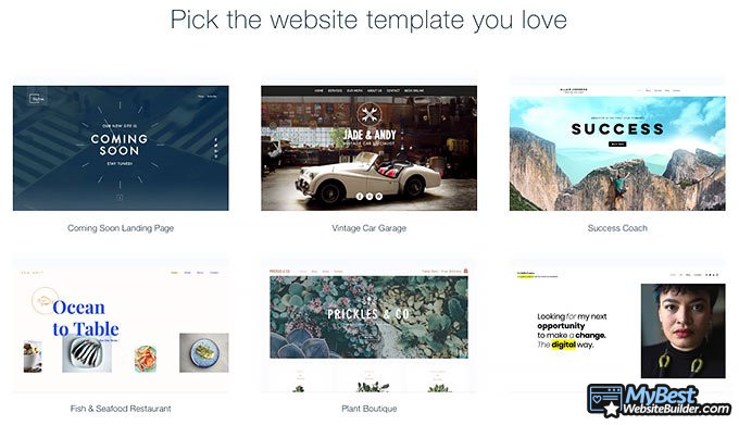 Wix review: templates