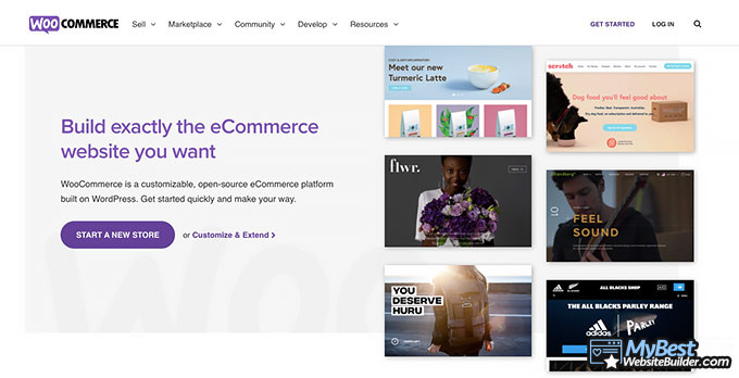 WooCommerce review: front page.