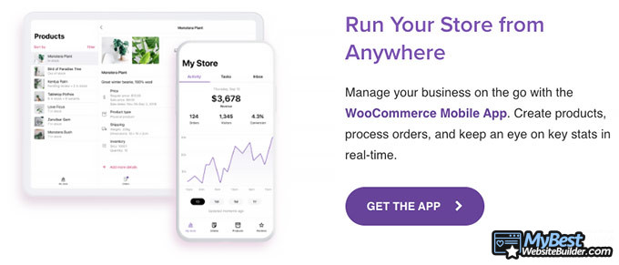WooCommerce review: mobile app.
