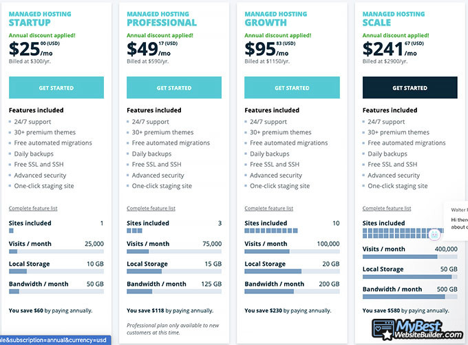 WP Engine reviews: managed hosting prices.