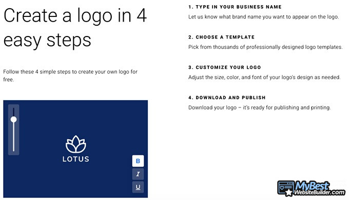 Zyro review: create a logo in 4 easy steps.